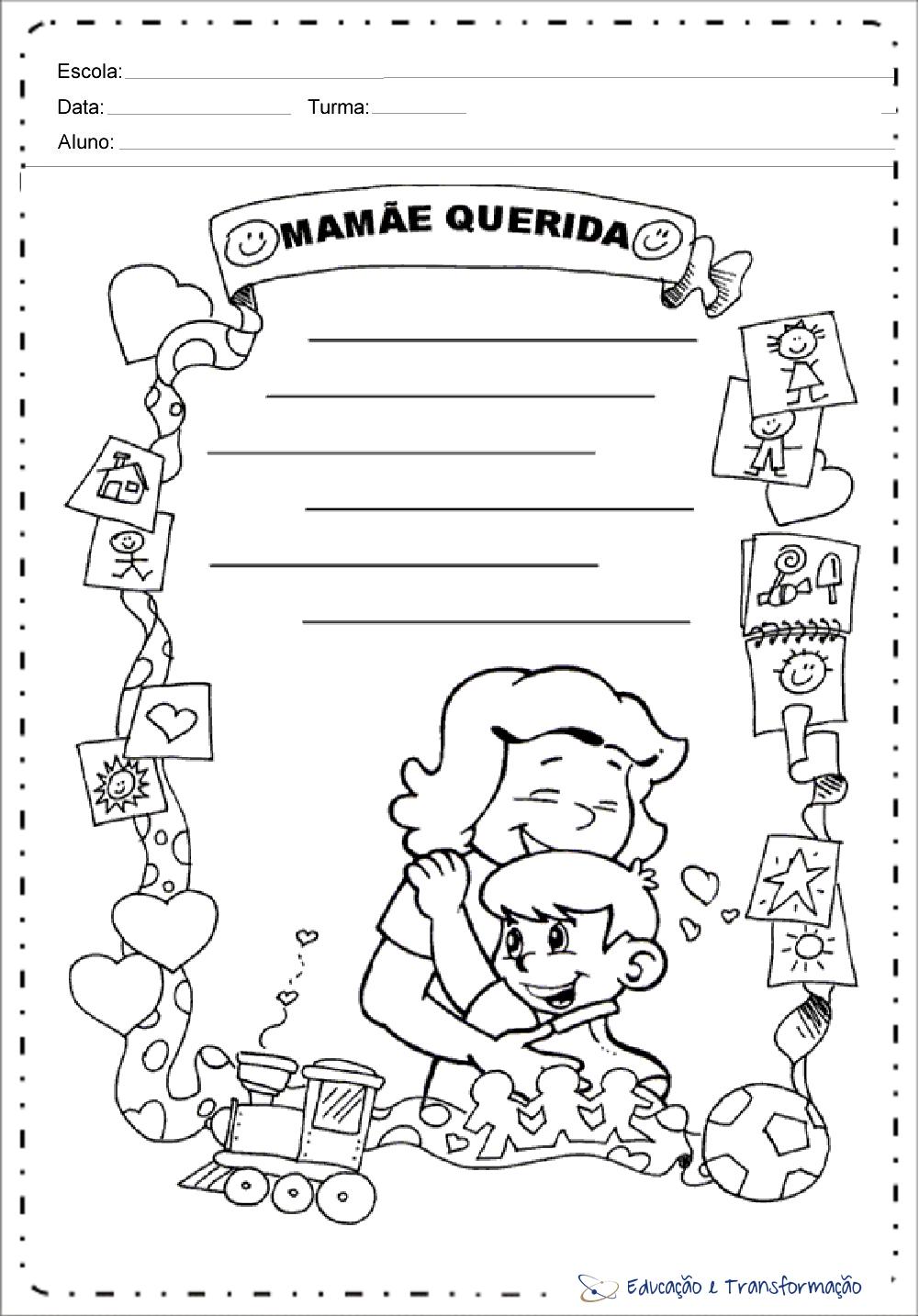 Atividades de Produção de Texto Dia das Mães