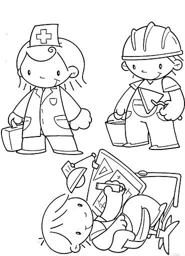Atividades Dia do Trabalho - Desenhos para colorir
