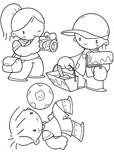 Atividades Dia do Trabalho – Desenhos para colorir