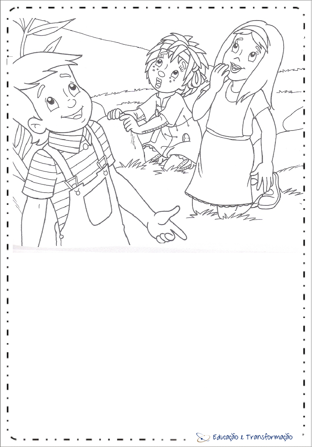 Atividades do Sítio do Pica Pau Amarelo - Desenhos para colorir