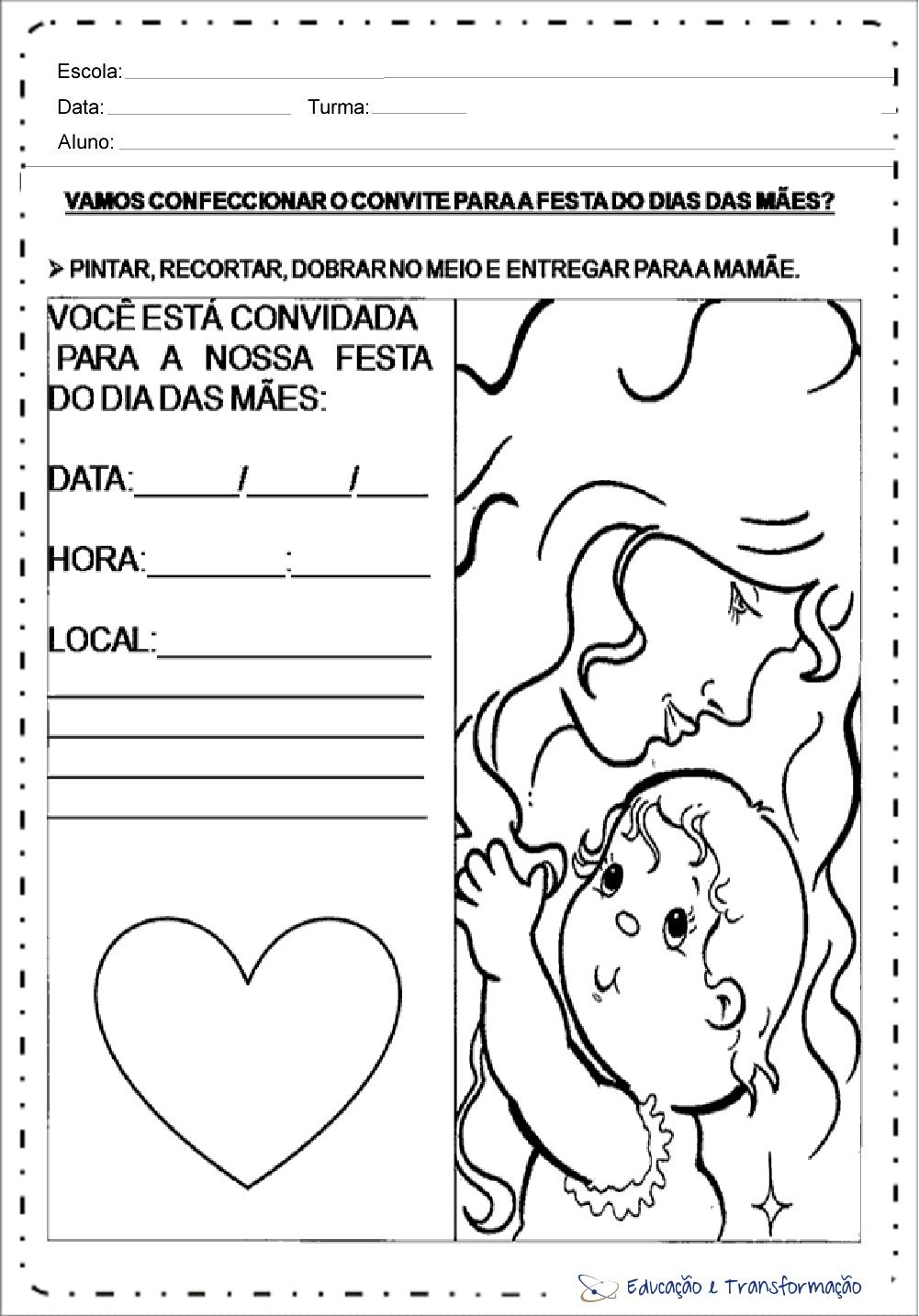 Atividades Dia Das Maes Ensino Fundamental Para Imprimir