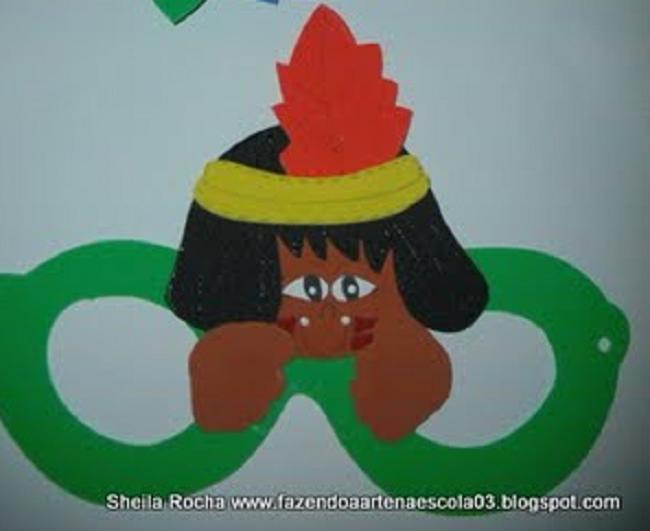 Lembrancinhas Dia do Índio com moldes - Óculos