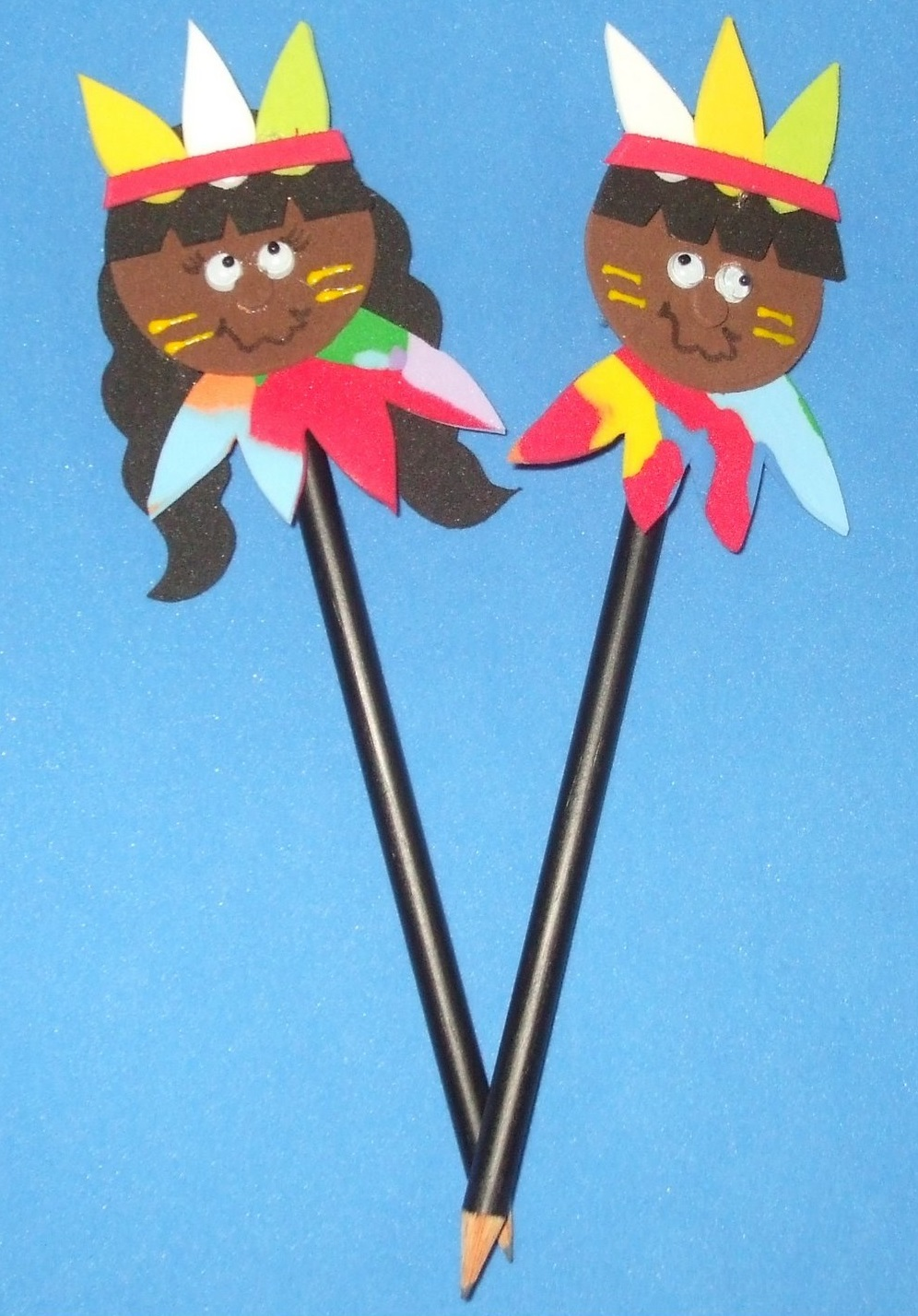 Lembrancinhas Dia do Índio com moldes - Ponteira de Lápis