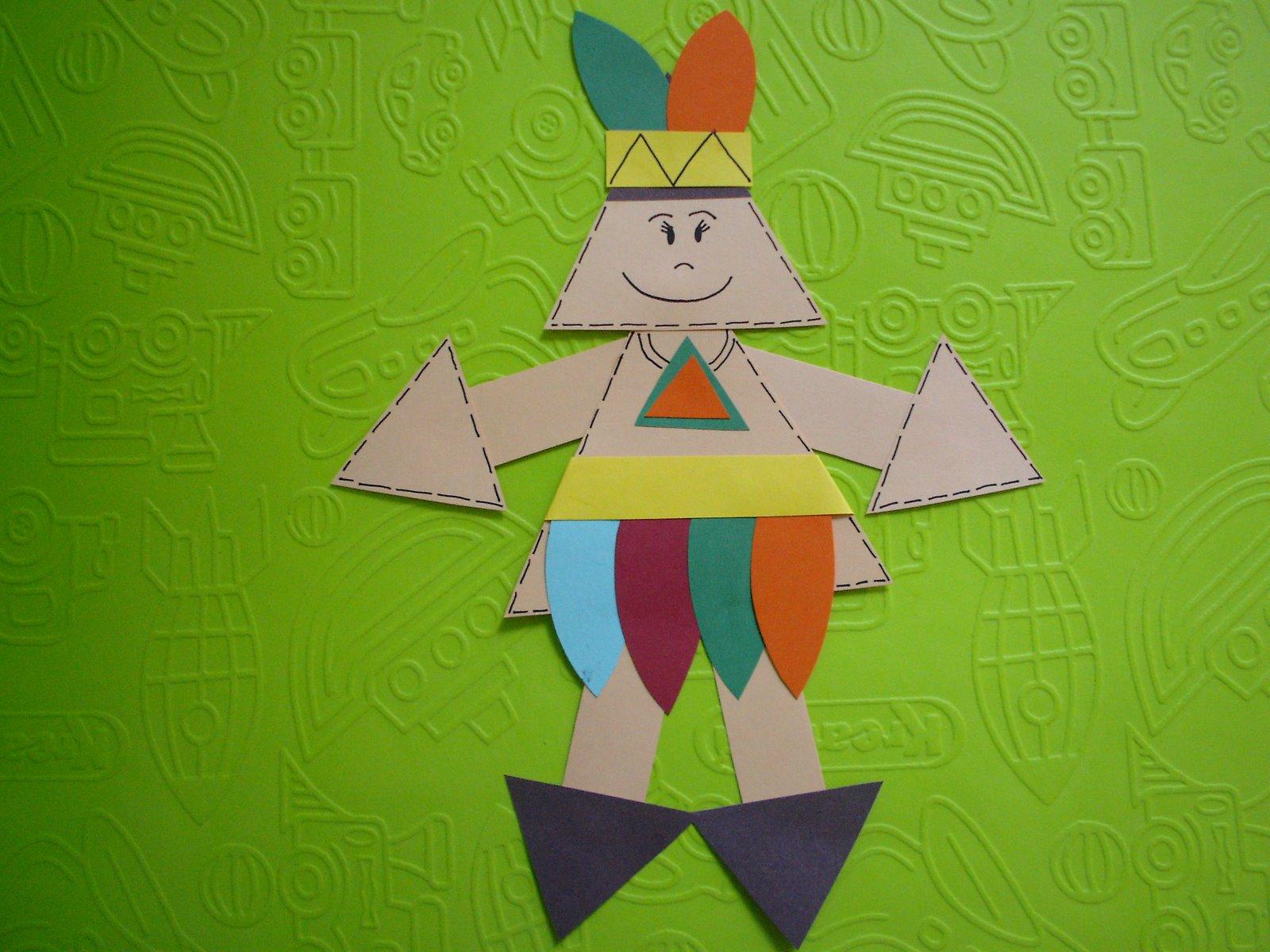 Lembrancinhas Dia do Índio em EVA com Figuras Geométricas