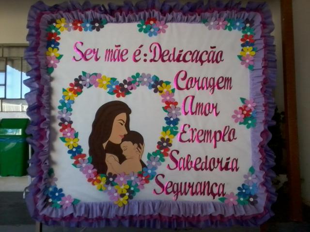 Mural Dia Das Mães Com Moldes Em Eva Ou Feltro Painéis E Cartaz