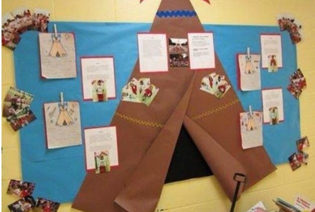 Mural Dia do Índio em EVA para Educação Infantil