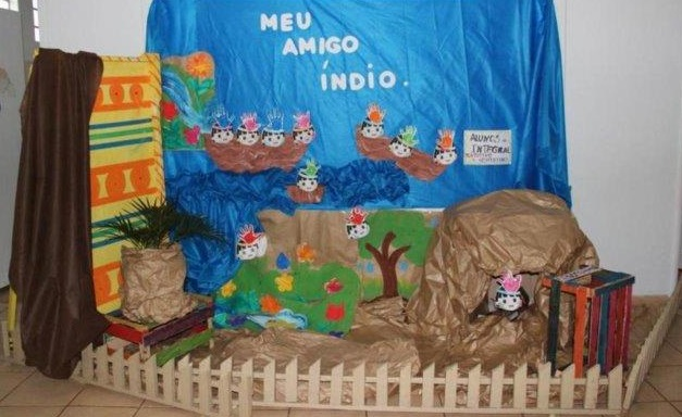 Cartaz Dia do Índio em EVA com moldes - Murais e Painéis do 19 de Abril d57a1df7045a
