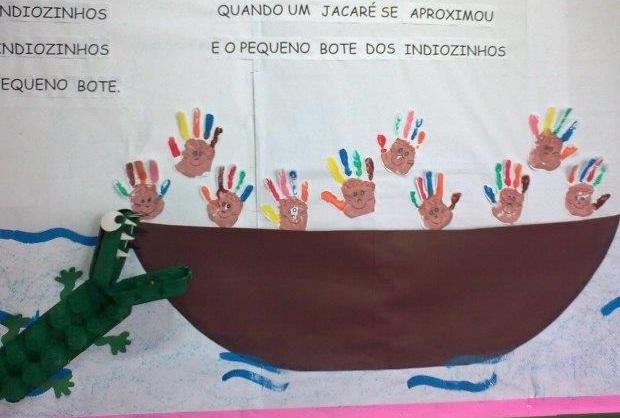 Painel Dia do Índio em EVA