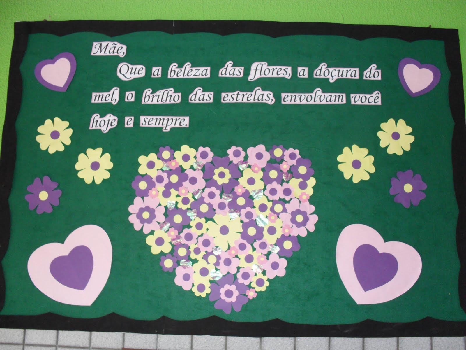 Painel para o dia das mães para Escola
