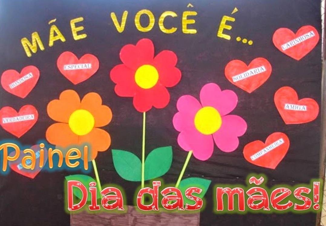 Painel Para O Dia Das Mães Em Eva Ou Feltro Para Educação Infantil