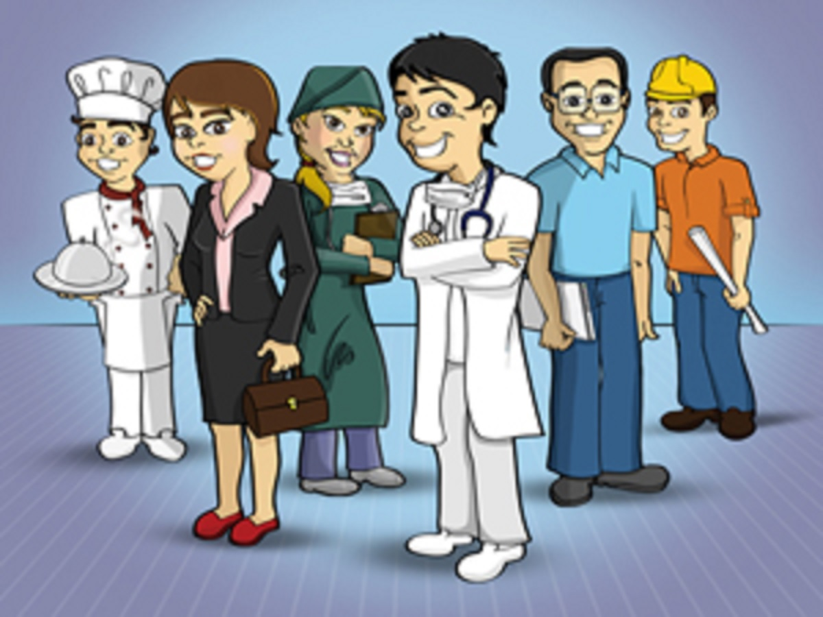 Atividades sobre profissões para Educação Infantil - As profissões