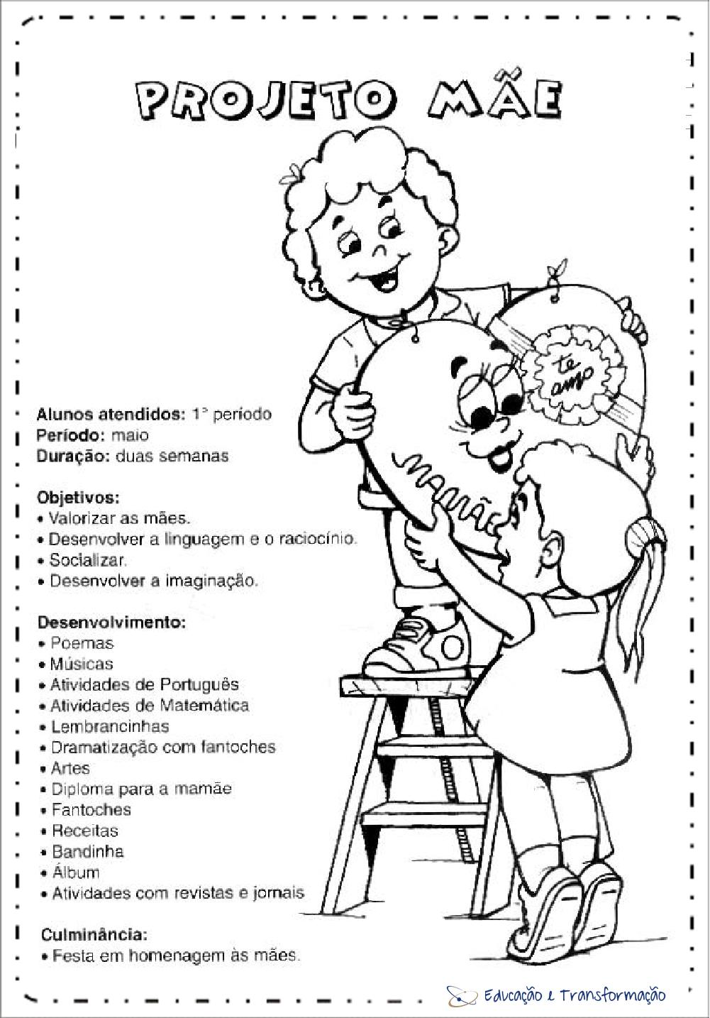 Projeto Dia das Mães Educação Infantil - Mãe para imprimir