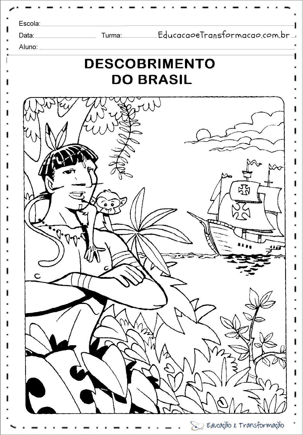 Desenhos para Colorir sobre Quem descobriu o Brasil