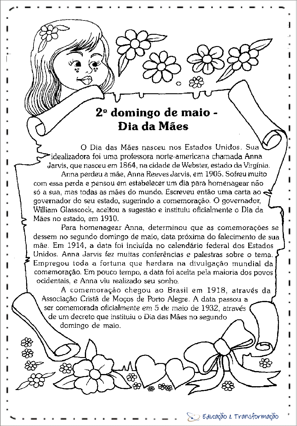 Texto sobre Dia das Mães para imprimir – Origem