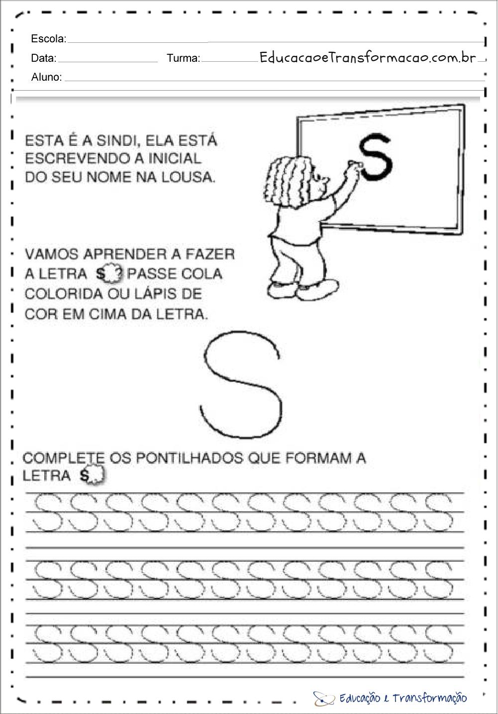 Atividades com a Letra S
