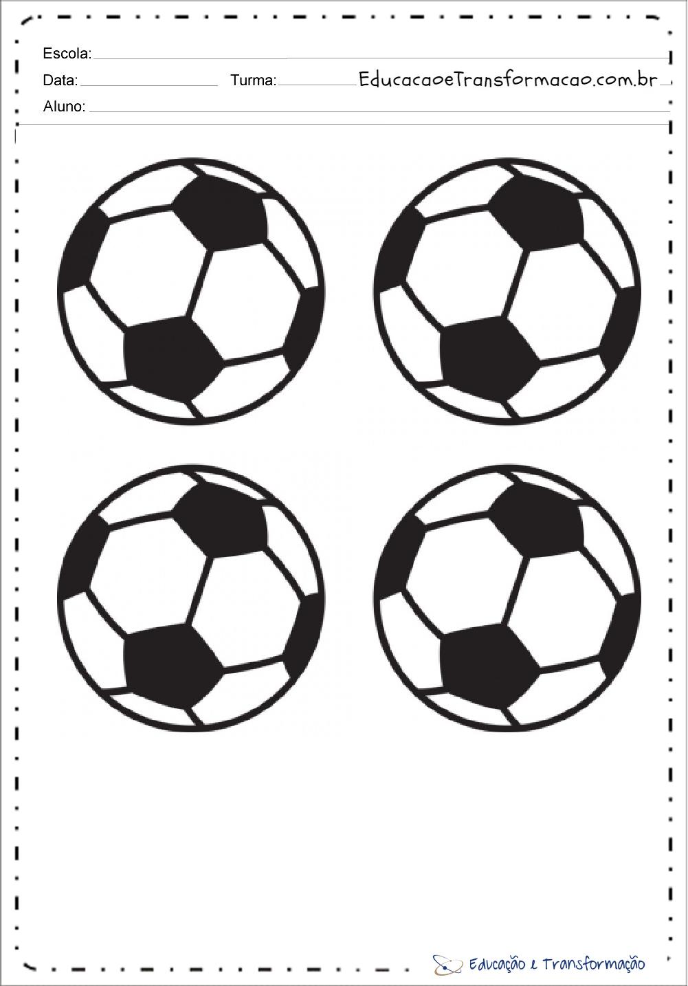 Atividades Copa do Mundo 2018 - Desenhos para colorir