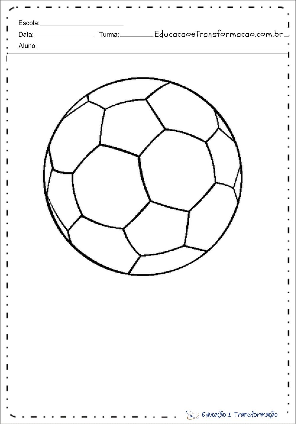 Desenhos para colorir Copa do Mundo 2018 – Bola