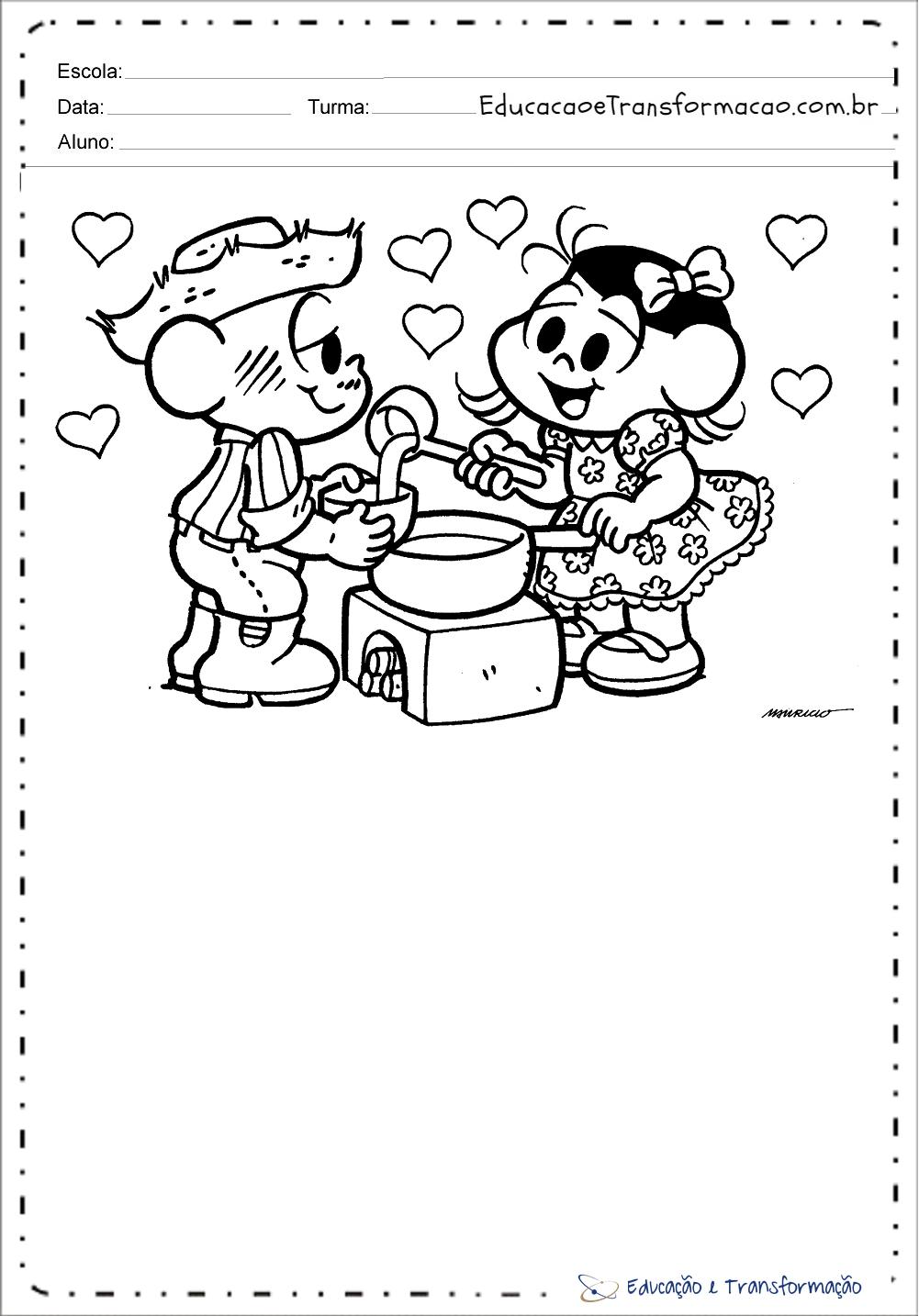 Atividades de festa junina para colorir