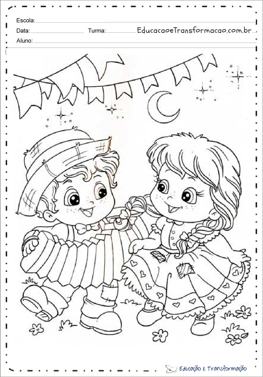 Atividades Festa Junina Educacao Infantil Para Imprimir E Colorir