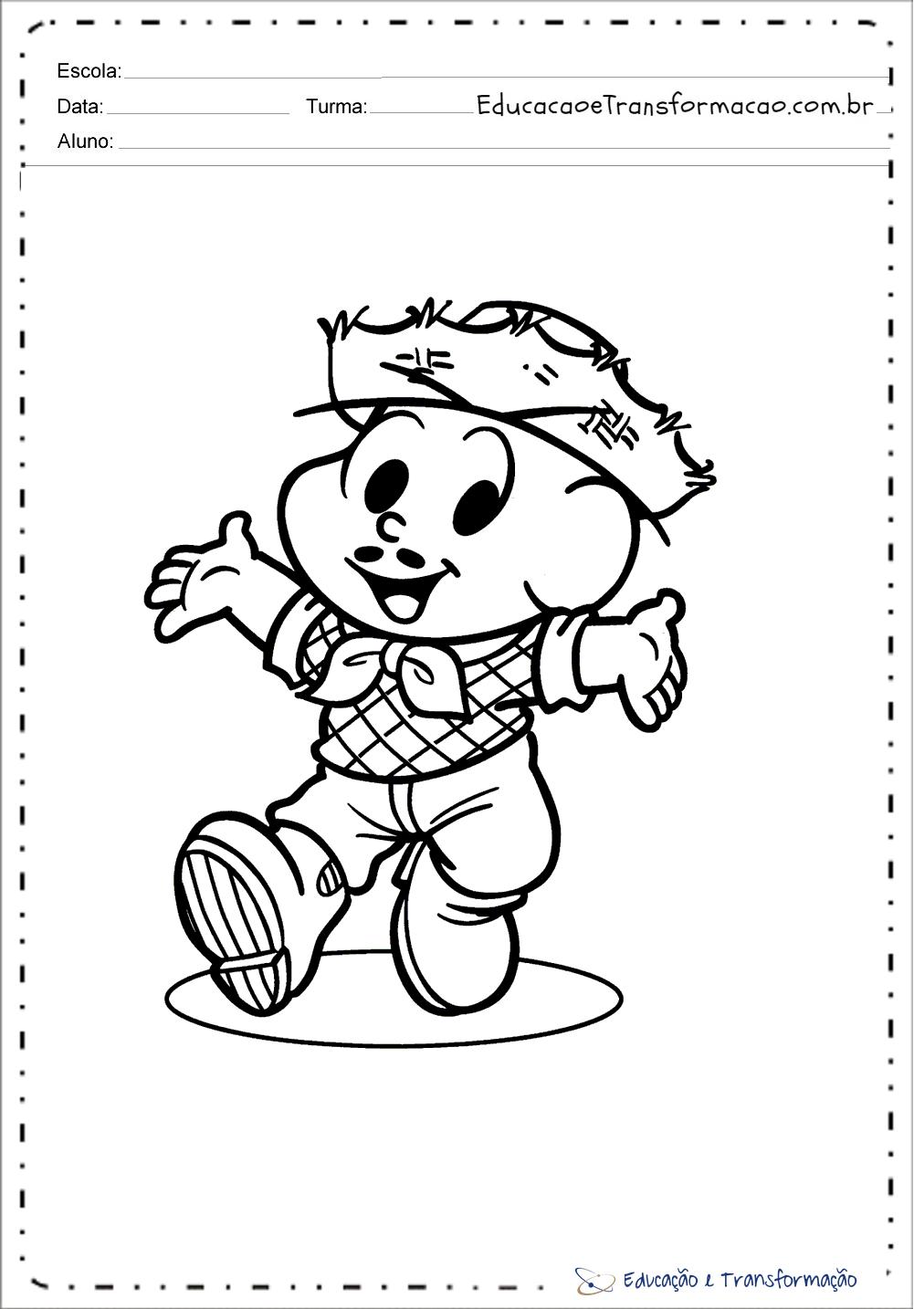atividades festa junina educação infantil para imprimir e colorir