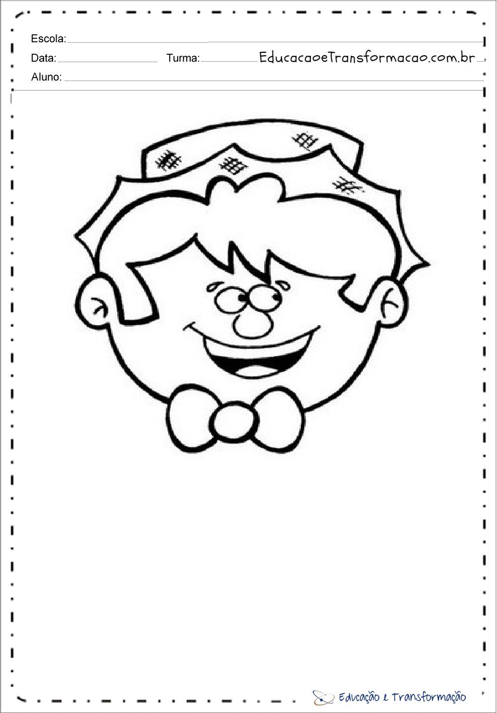 Atividades festa junina educação infantil para colorir