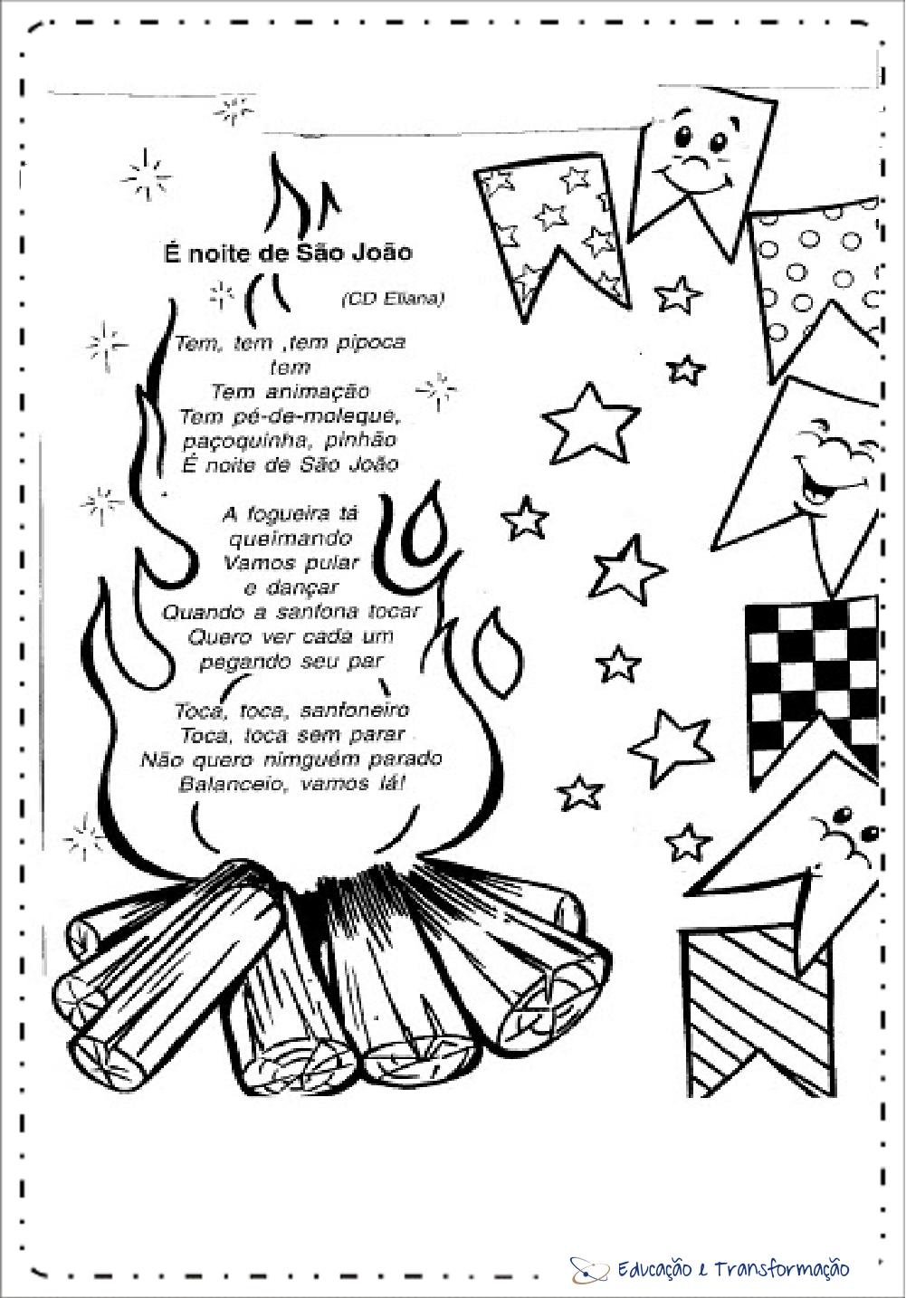 Atividades Festa Junina Educacao Infantil Musicas Para Imprimir