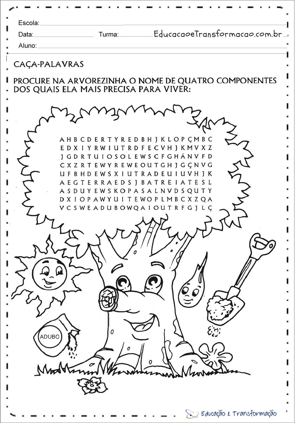 Extremamente Atividades meio ambiente educação infantil para imprimir e colorir DH78