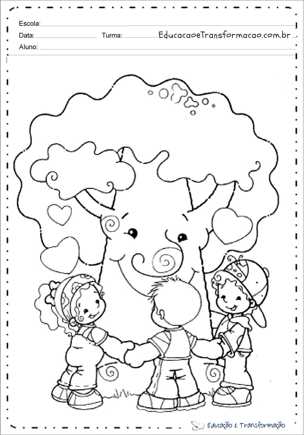 Amado Atividades meio ambiente educação infantil para imprimir e colorir AS16