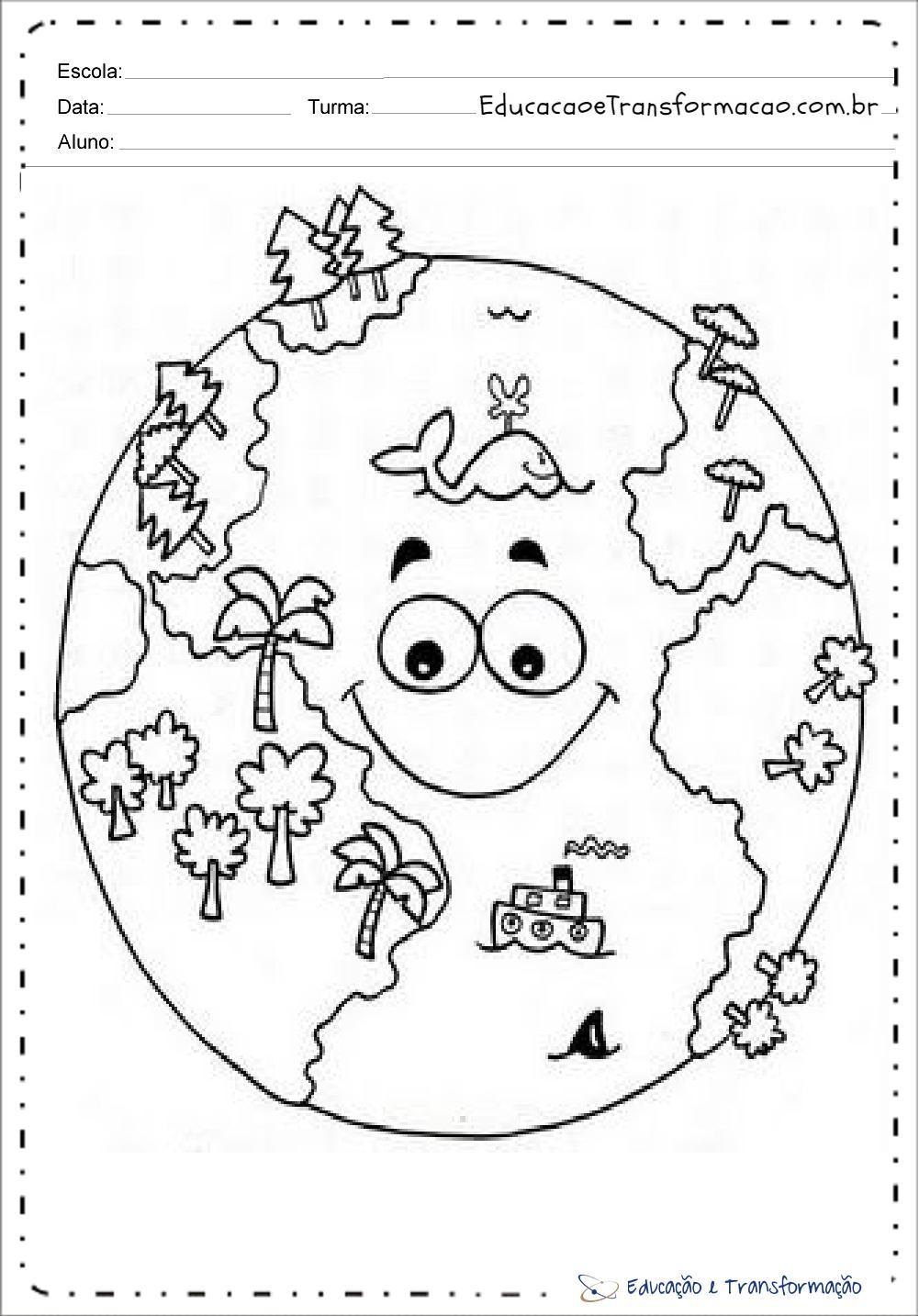 Famosos Atividades meio ambiente educação infantil para imprimir e colorir DW79