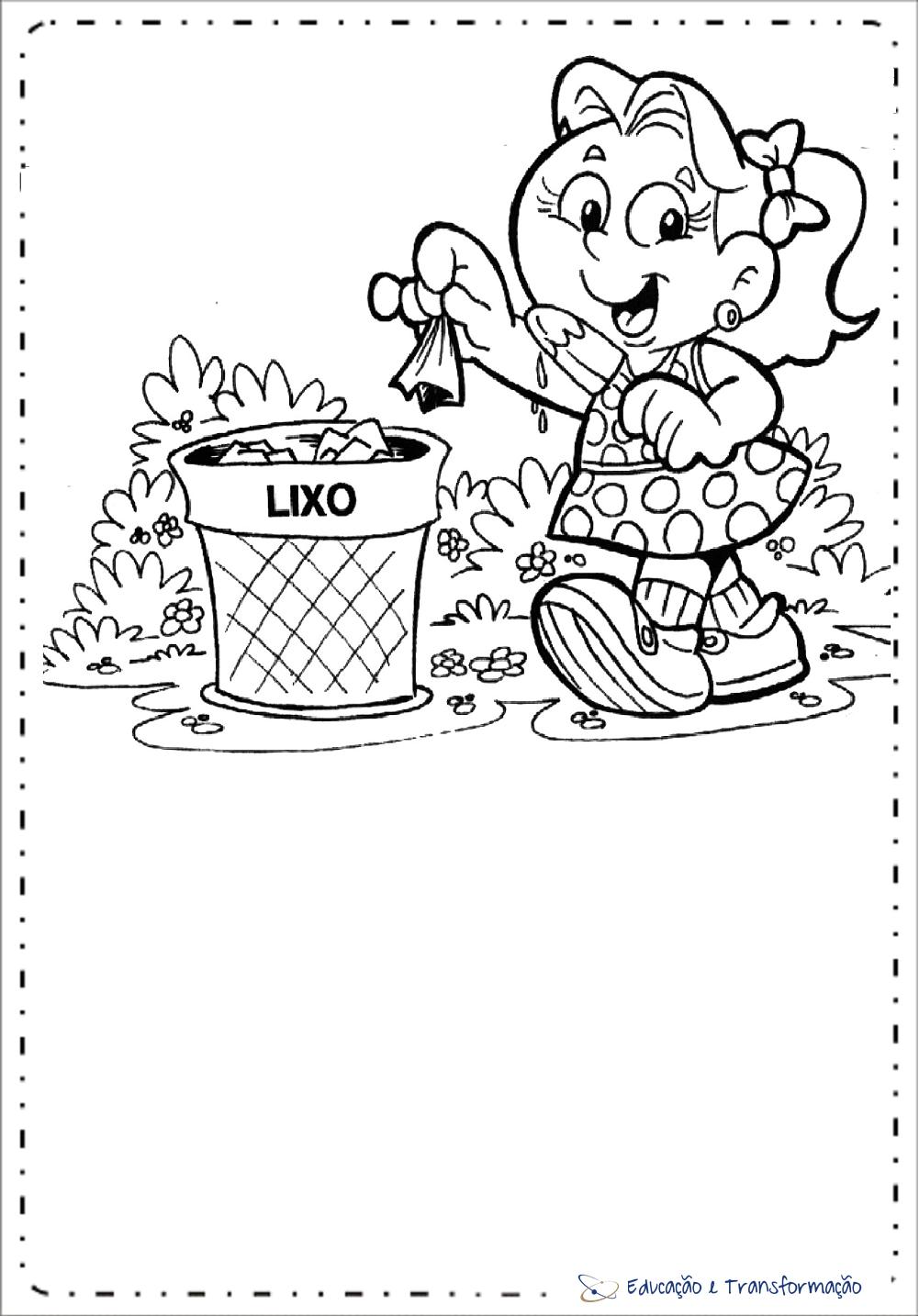 Atividades meio ambiente educação infantil para colorir