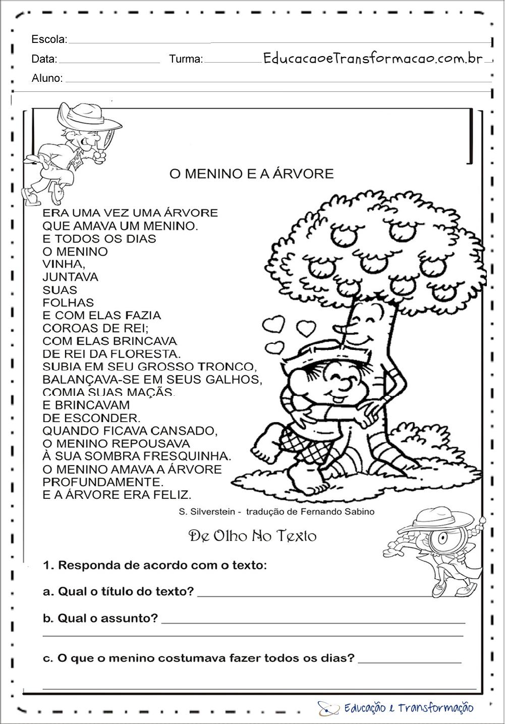 Atividades Meio Ambiente Educacao Infantil Responda Educacao E