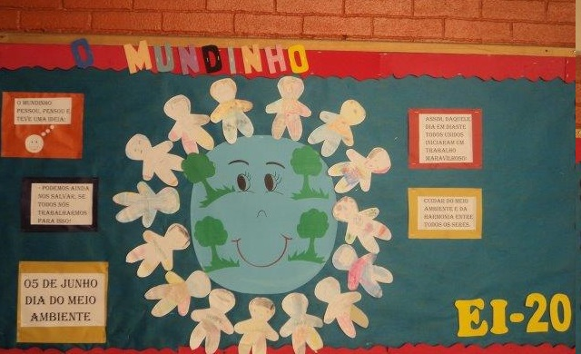 Atividades meio ambiente mural e cartazes educa o e for Mural de natal 4 ano