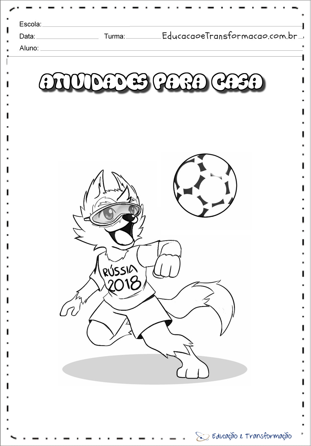 Atividades sobre a Copa do Mundo - Capas para caderno