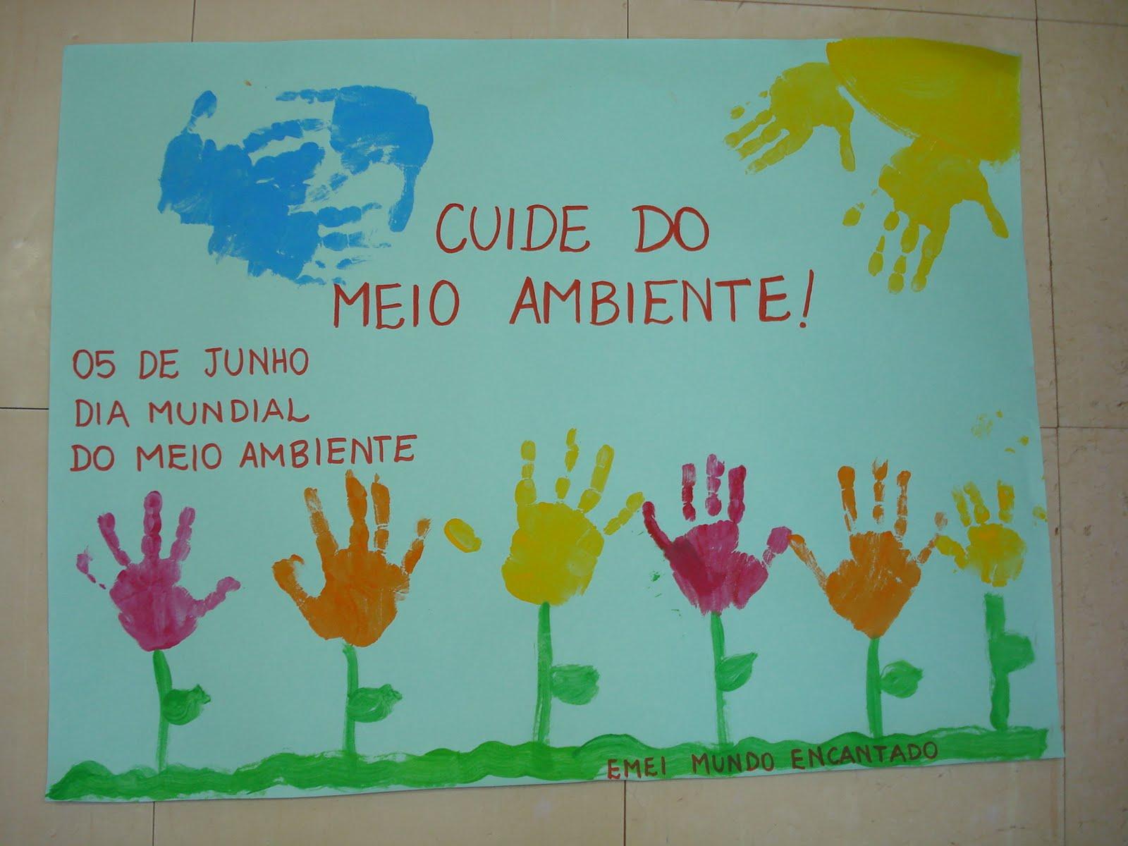 Cartaz Meio Ambiente Para Educação Infantil Na Escola