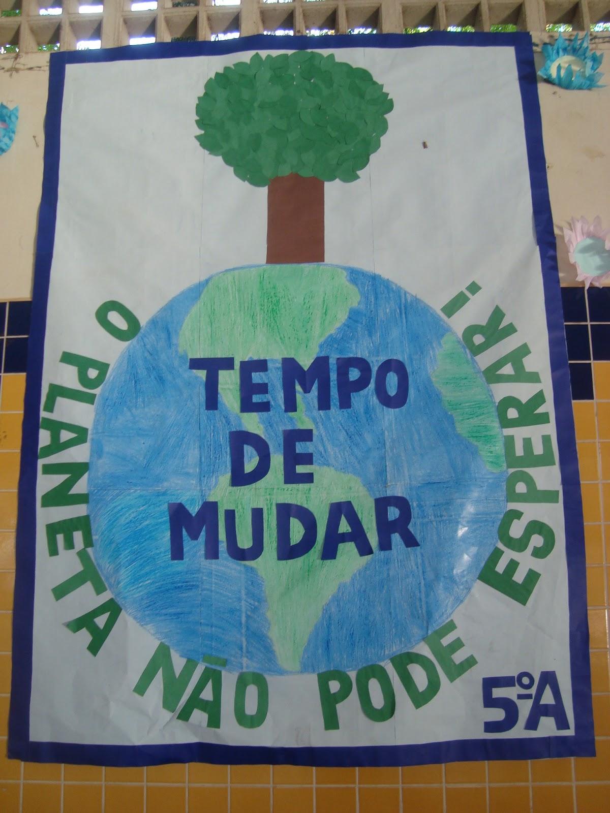 Famosos Cartaz Meio Ambiente para Educação Infantil na escola - Painel e Mural QQ07