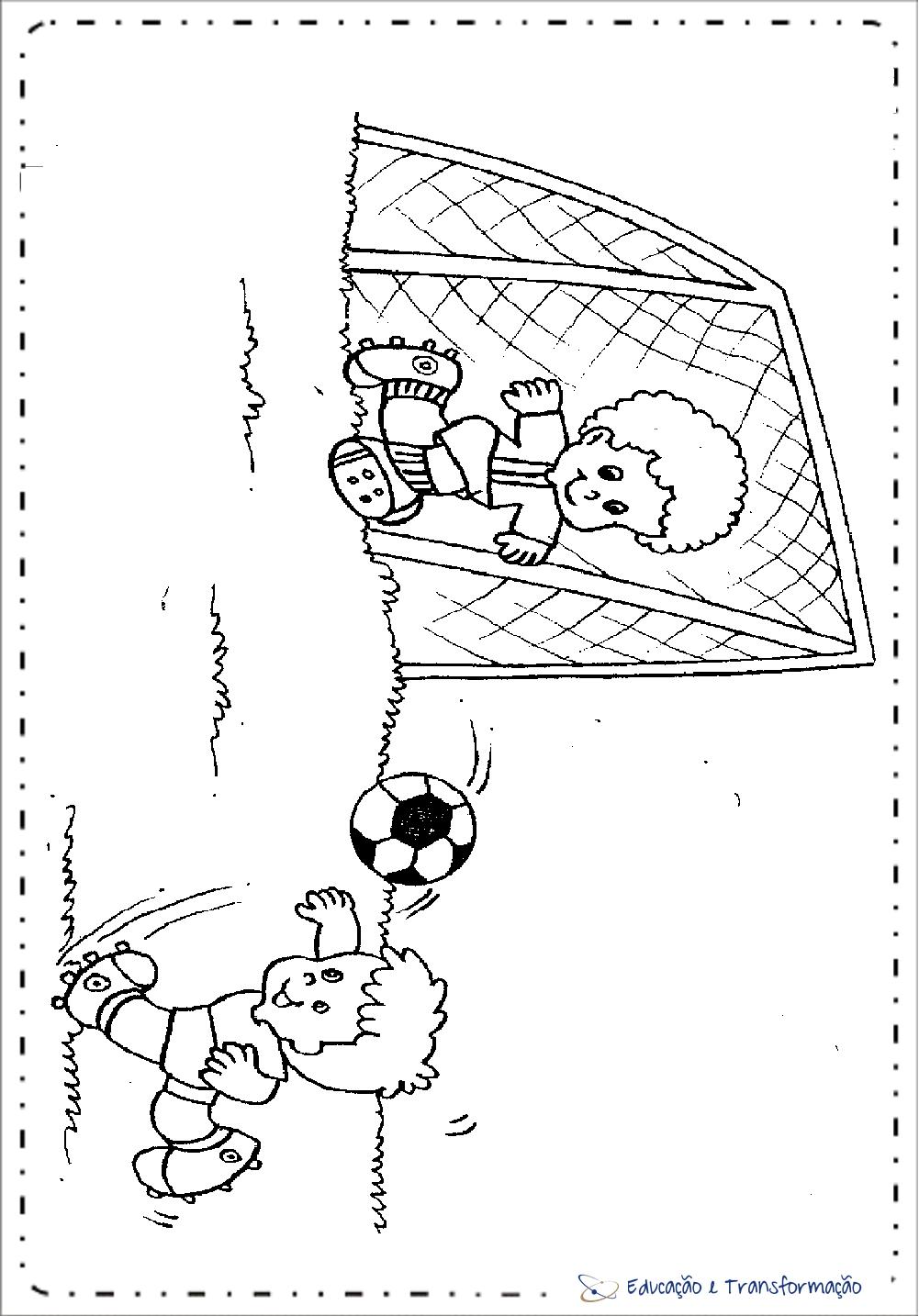 Desenhos para colorir Copa do Mundo – Jogador e goleiro