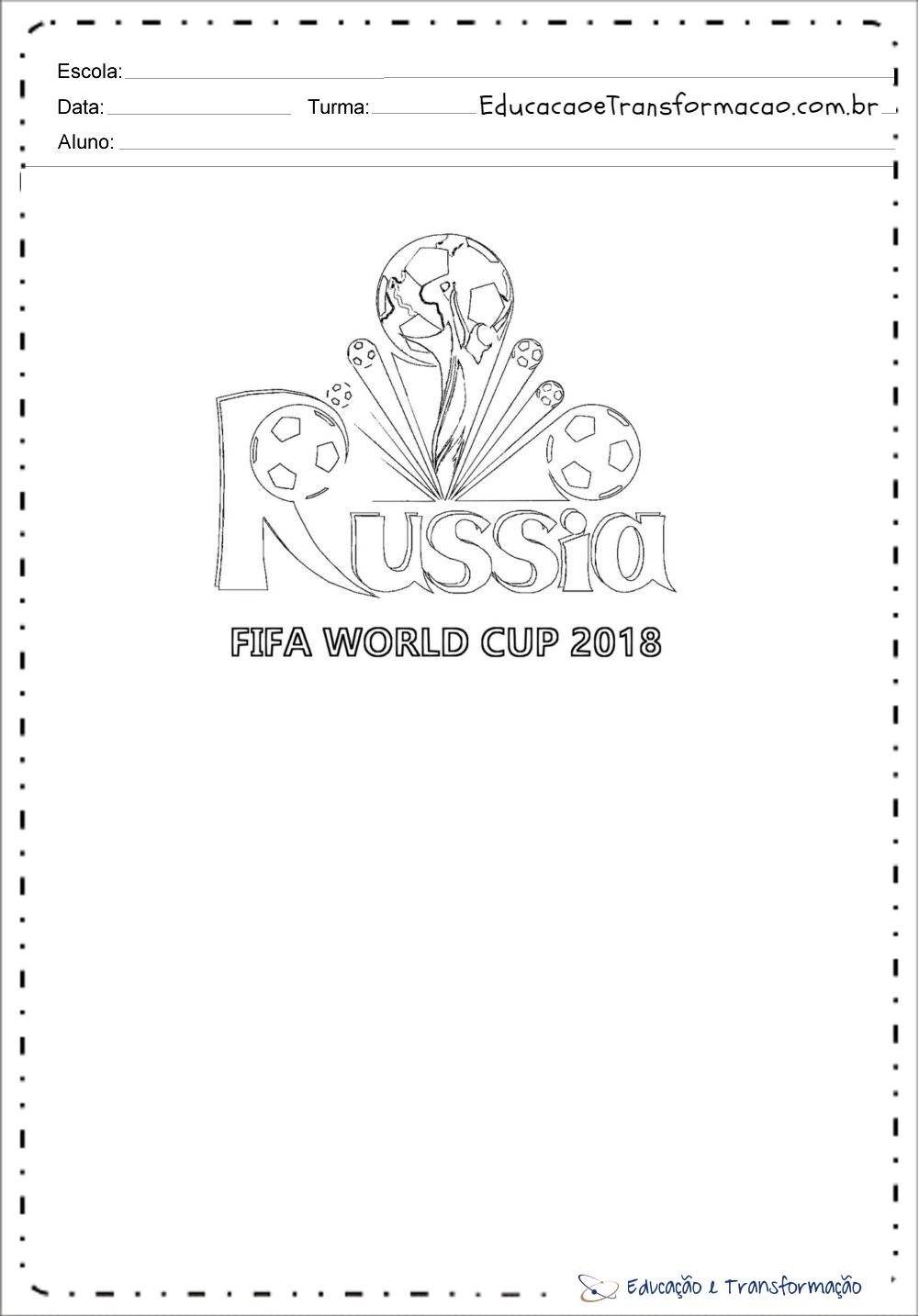 Desenhos Colorir Copa do Mundo – Russia Fifa
