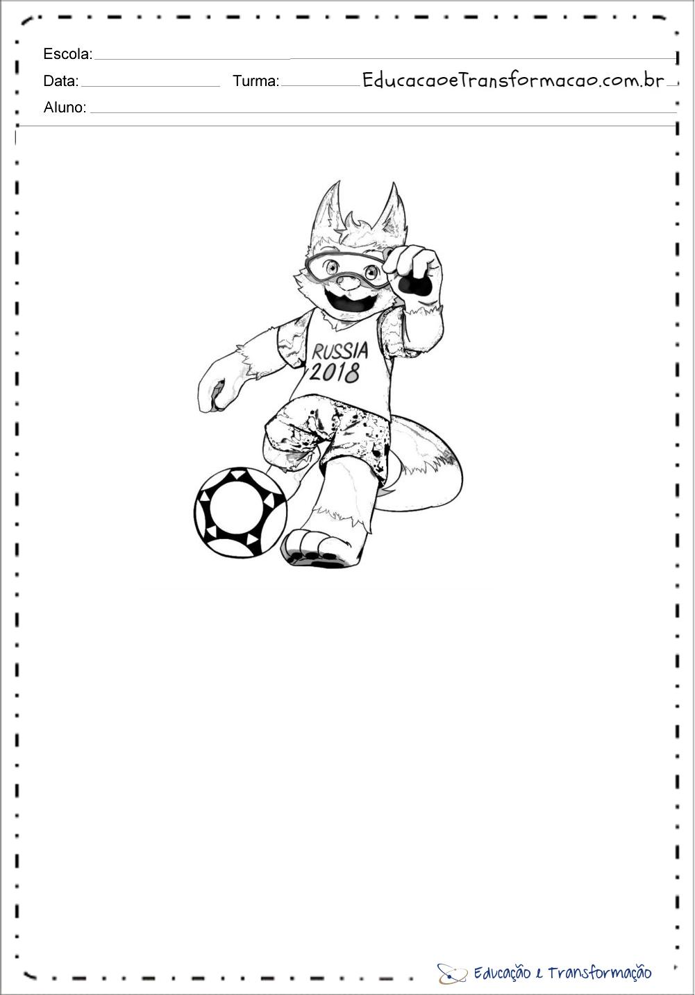 Desenhos Colorir Copa do Mundo – Mascote