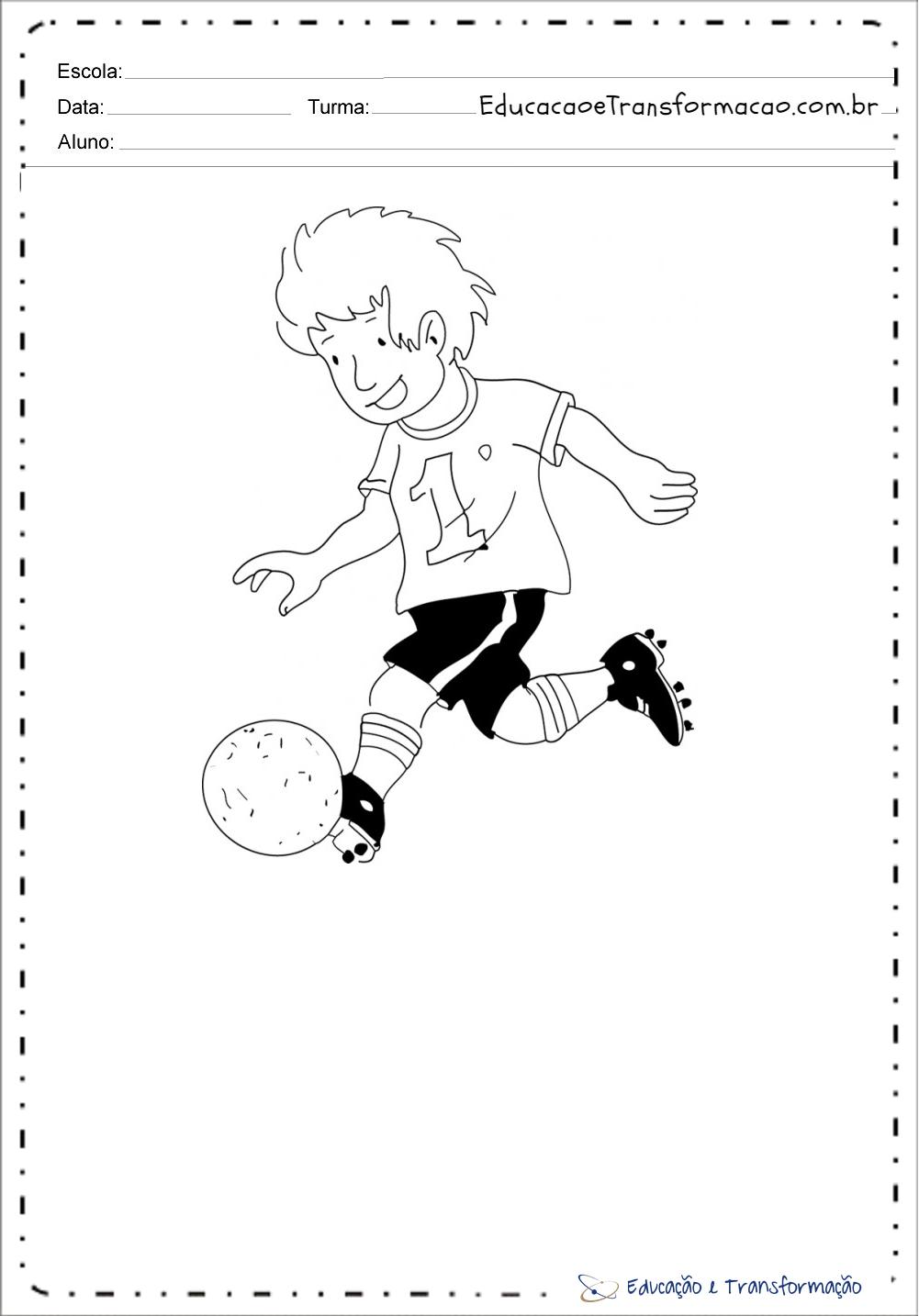 Desenhos para colorir Copa do Mundo – Jogadores de Futebol