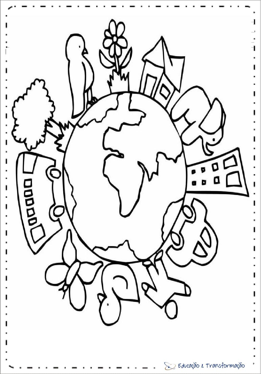 Desenhos Para Colorir Meio Ambiente Para Imprimir Educacao E