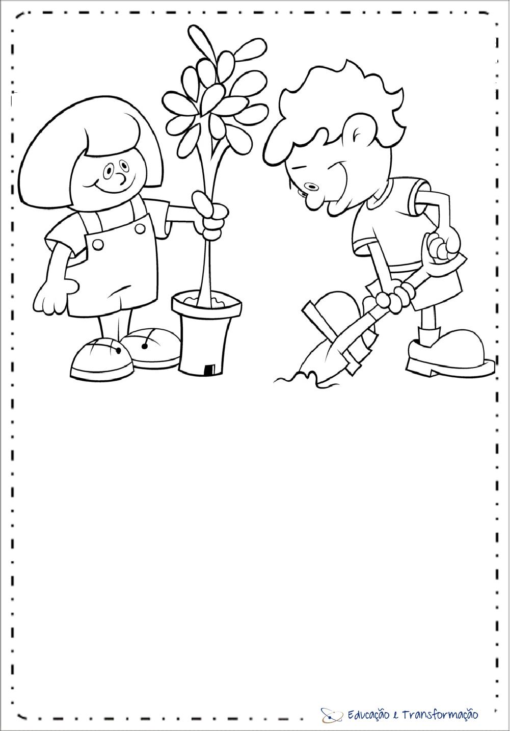 Desenhos para colorir meio ambiente para imprimir