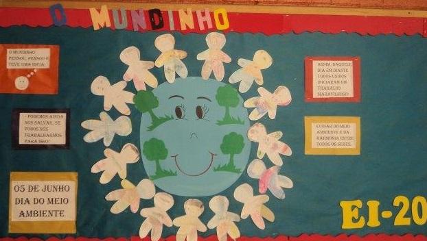 Mural meio ambiente para escola em EVA
