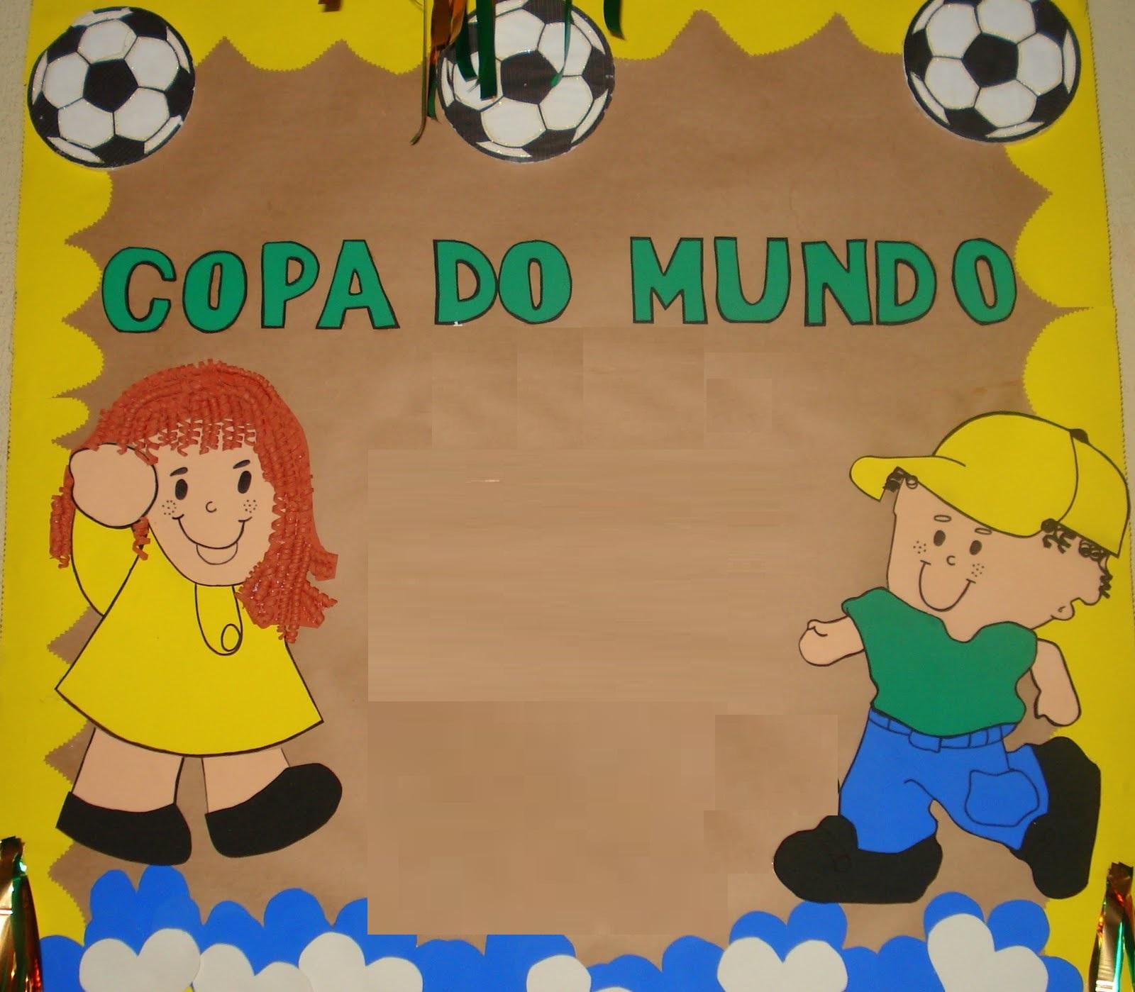 Painel Copa do Mundo 2018 em EVA ou Feltro