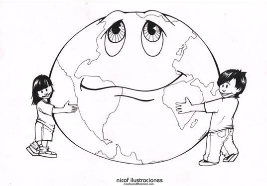Painel Meio ambiente – Moldes do planeta terra