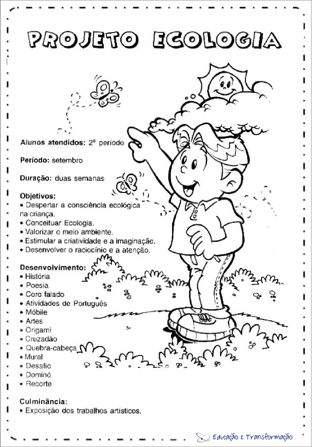 Plano de aula sobre meio ambiente para imprimir