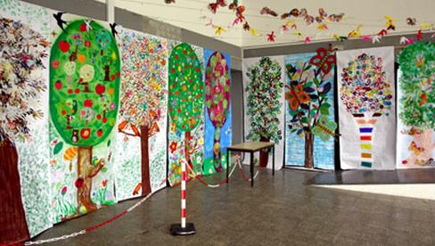 Porta decorada Meio Ambiente em EVA para escolaPorta decorada Meio Ambiente em EVA para escola
