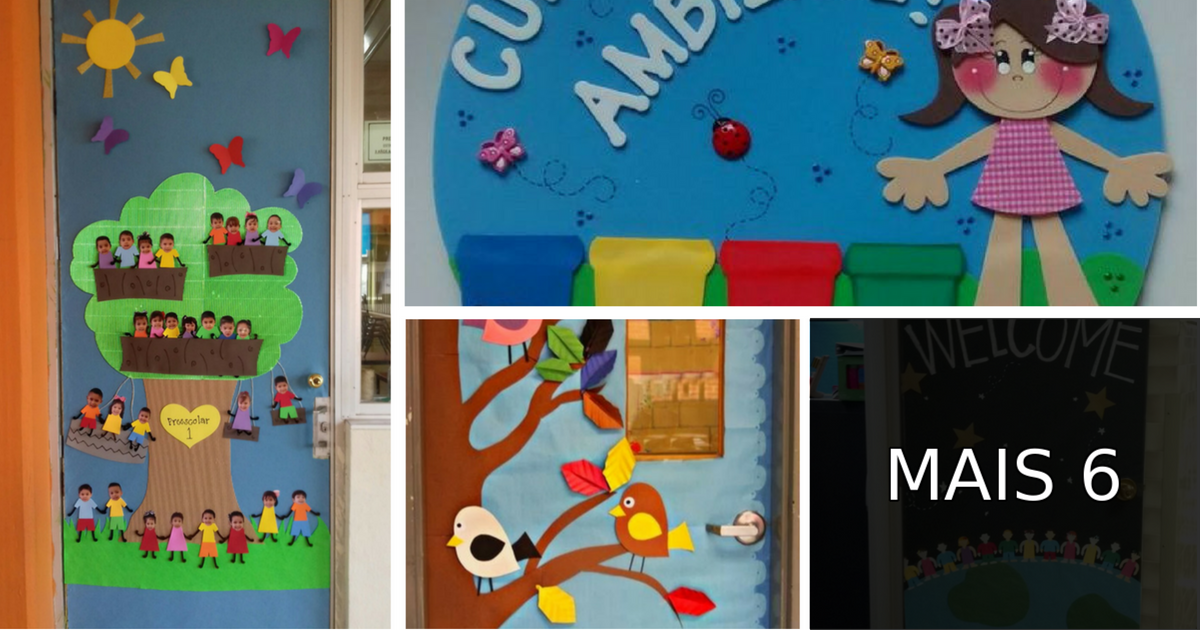 Porta Decorada Meio Ambiente Em Eva Para Escola Infantil