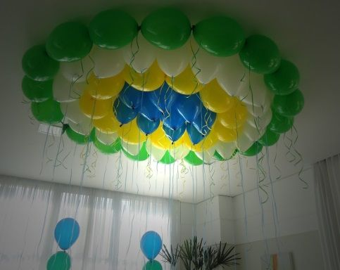 Decoração Copa do Mundo com balões