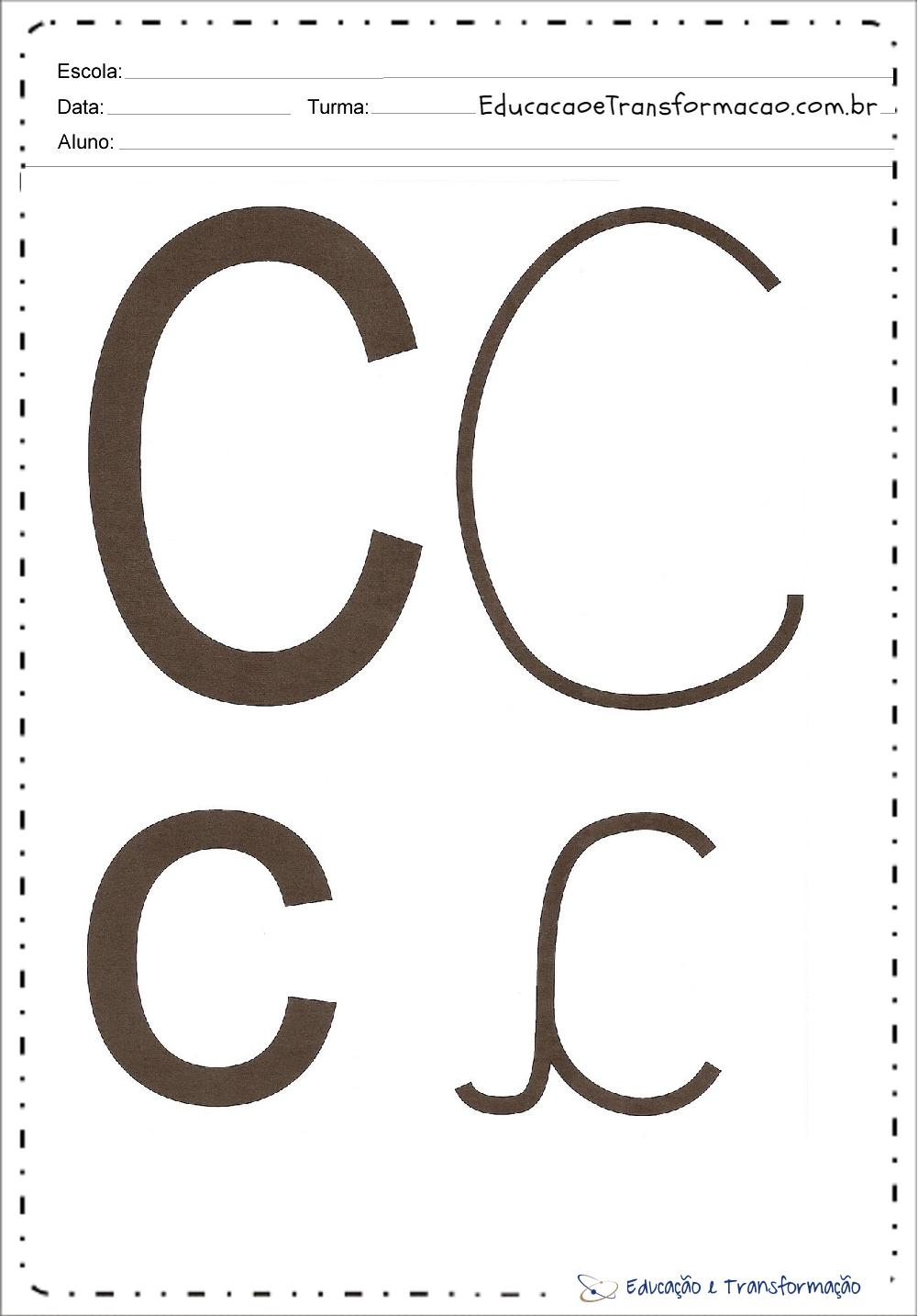 "Letra ""C"" maiúscula e minuscula"