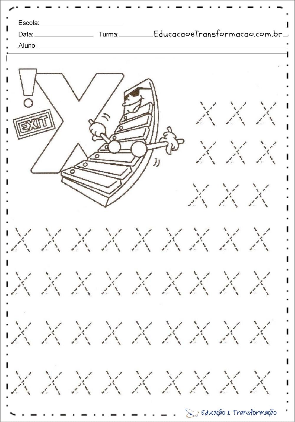 Atividades com a letra X